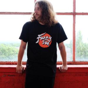 Fuzzy Sun Classic Black T-Shirt With Logo