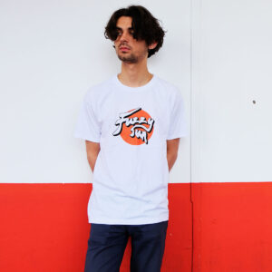 Fuzzy Sun Classic White T-Shirt With Logo