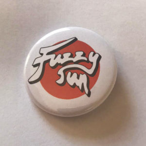 Fuzzy Sun Round Button Badge (Single)