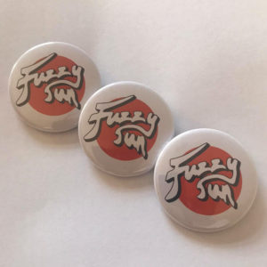 Fuzzy Sun Round Button Badges (Trio)