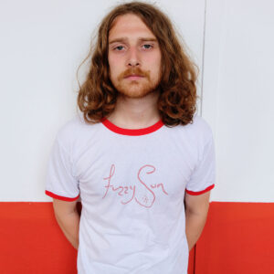 Fuzzy Sun White & Red T-Shirt